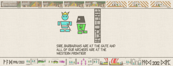 Sire, barbarians are at the gate and all of our archers are at the western frontier!