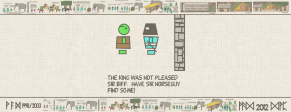 The King was not pleased Sir Biff. Have Sir Norseguy find some!