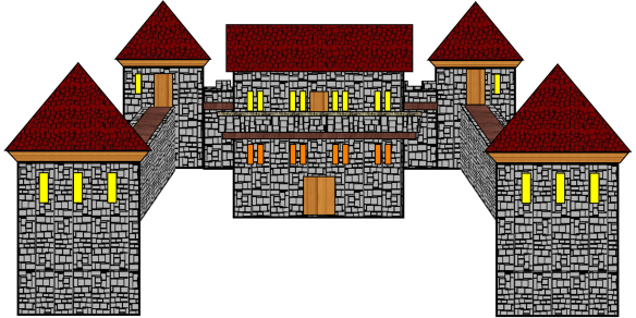 The Fourth Castle with no front wall.