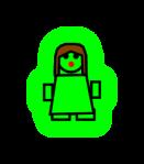 Simple female figure