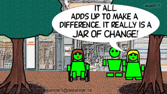 It all adds up to make a difference. It really is a Jar of Change!