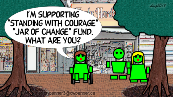 "I'm supporting ""Standing With Courage"" ""Jar of Change"" fund. What are you?"