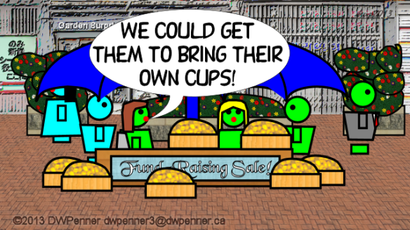 We could get them to bring their own cups!
