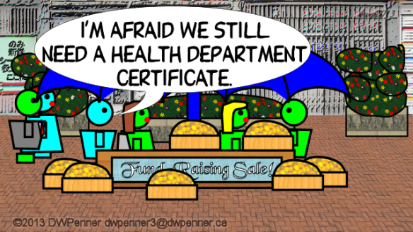 I'm afraid we still need a Health Department certificate.