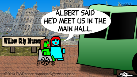 Albert said he'd meet us in the main hall.