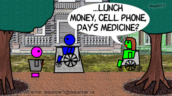 ...lunch money, cell phone, day's medicine?