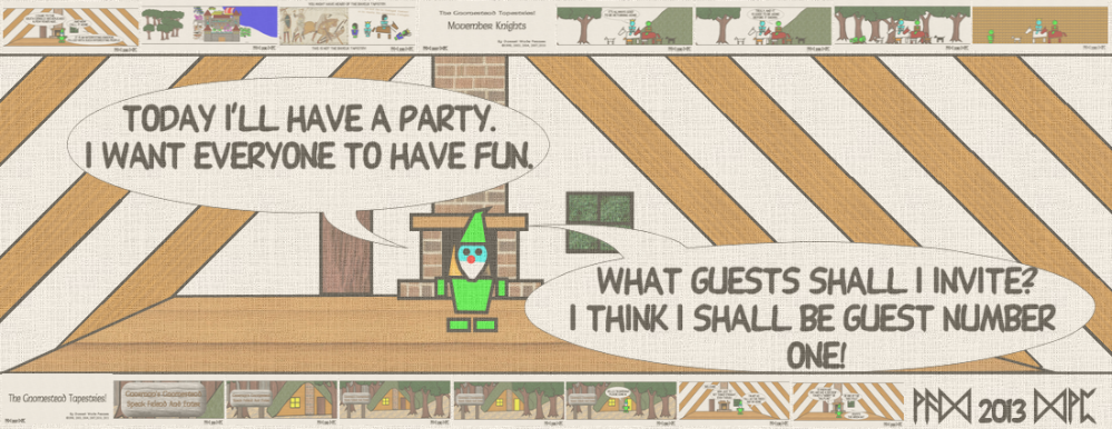 Today I'll have a party. I want everyone to have fun. What guests shall I invite? I think I shall be guest number One!