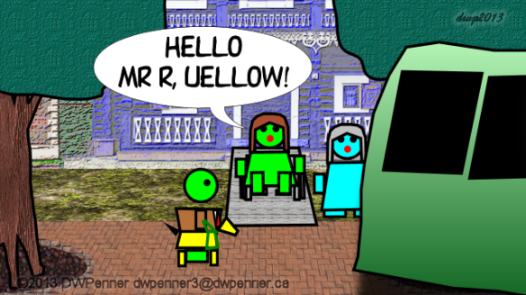 Hello Mr R, Uellow!