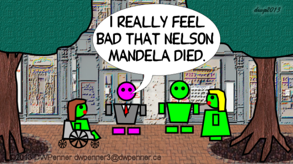 I really feel bad that Nelson Mandela Died.