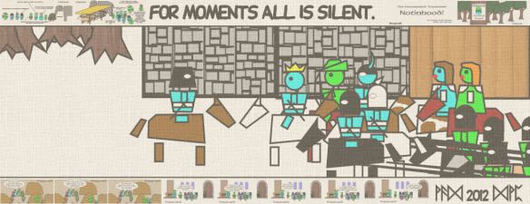 For moments all is silent.